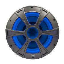 Dual DM1016S 10 subwoofer marine speaker with blue light LED illumination