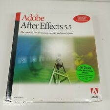 Adobe After Effects 5.5 Educational Version SHRINK WRAPPED SEALED UNOPENED