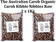 2 x 1kg The Australian Carob Organic Carob Kibble Nibbles Raw ( total 2kg )