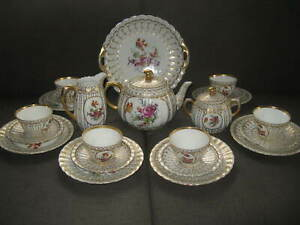 Württemberg Porzellan * Tee-Kaffeeservice 22 -teilig * Dekor 1756