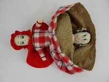 Vintage Topsy Turvy story doll Little Red Riding Hood Grandma