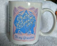To My Grandma Vintage Avon Blue Pink Purple and White Mother's Day Mug