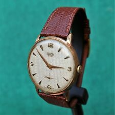 MIRAMAR Geneve Large Gold Plated Vintage 1950s Watch 1130 Reloj Montre Orologio
