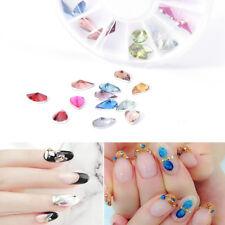 Nail Art 3d Glitter Charms Crystal Rhinestone Acrylic Tips DIY Decoration Wheel