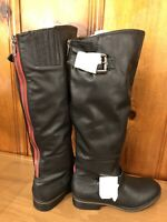 Gabriella Rocha Women's Knee High Zip Up Back Boots Size 10 Black NWOB Riding