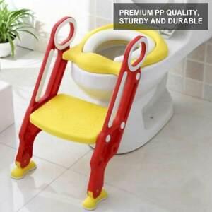 Kinder-Toilettensitz Toilettentrainer Toilettenaufsatz Trittleiter Lerntöpfchen
