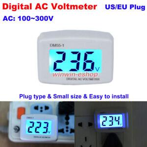 AC 110V-300V 220V 230V LCD Digital Voltmeter Plug-in Electric Tester Volt Meter