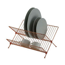 2 Tier Stunning X - Shape Rose Gold / Copper Colour Dish Drainer | Dish Rack