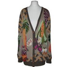 BEREK vintage quirky vegetable motif handknit cardigan M