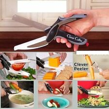 Clever Cutter 2-in - 1 Knife & Taglio Bordo Forbici AS Seen on TV-UK POST LIBERO