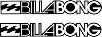 2 x Billabong logo I Car Van surfing jdm laptop vinyl decal sticker