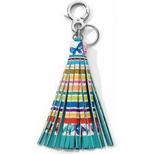 NWT Brighton Your Bag SUNNY STRIPE Handbag Tassel Fob Let's Hang Out MSRP $50