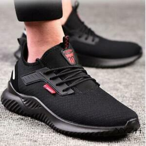 Mens Steel Toe Working Safety Shoes Anti-slip Mesh Sneakers Breathable Trainers
