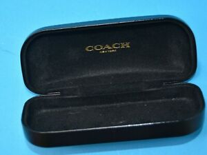 COACH Signature Monogram black Hard Clamshell Sunglasses/ Eye Glasses Case Only