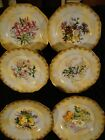 Set of Six Antique Haviland Limoges Porcelain Hand Painted Floral Cabinet Plates