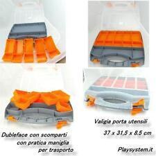 CASSETTA PORTA UTENSILI VALIGIA IN PLASTICA CON SCOMPARTI 37 X 31,5 X 8.5 CM