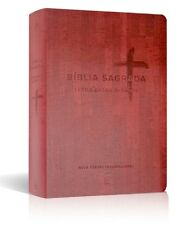 Portuguese Giant Print Bible, NIV, Extra Large Print Burgundy Imitation Leather