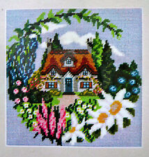 Tapestry kit Twilleys Summer Cottage full colour printed 10hpi canvas & thread