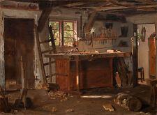 A carpenters workshop. Christen Dalsgaard Schreiner Werkstatt Holz B A3 01146