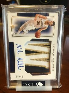 2019-20 National Treasures Rookie *SICK PATCH* Auto RC RPA Nicolo Melli  /75