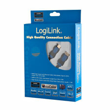 LogiLink HDMI Kabel High Speed Ethernet 1.4 Audio Full HD 2m Type A M/M vergolde