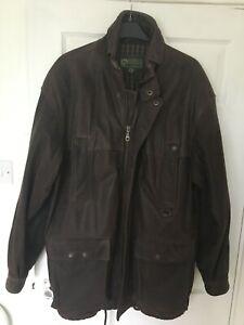 mens x large leather jacket / coat