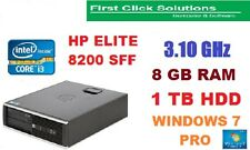 ULTRA FAST HP ELITE 8200 SFF  Core I3 3.1 GHZ 8 GB DDR3 1TB WINDOWS 7 PRO