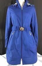 Laundry By Shelli Segal Blue Softshell Coat w/ Detachable Hood Jacket Womens S