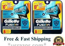 16 Gillette Proshield Chill Fusion Flexball Blades Cartridge fit Power Razor 8 4