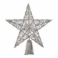 Kurt Adler 10-Inch Silver Star Christmas Tree Topper Ornament