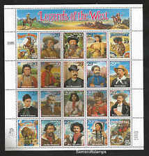 Legends of the West 29¢ Sheet of 20  MNH  VF Sc 2869