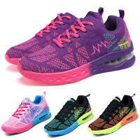 Women's Air Cushion Sports Sneakers Casual Breathable Running Tennis Shoes Gym