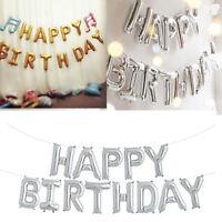 Happy Birthday Folienballons Luftballons Buchstaben Geburtstag Party 13 tlg Deko