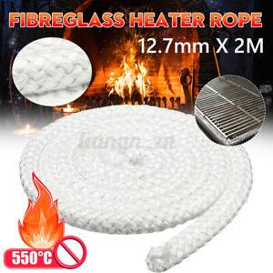 Pro 2M x 12.7mm Wood Fire Stove & Heater Rope Seal Fibreglass  550°C White XX
