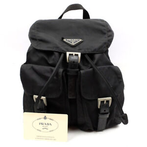 PRADA Nylon Backpack with outer pocket