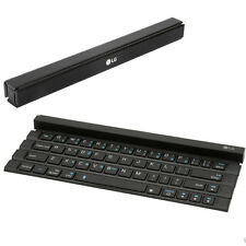 NEW LG ROLLY WIRELESS BLUETOOTH POCKET ROLLABLE QWERTY KEYBOARD BUILD IN STAND