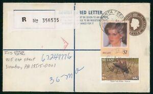 Mayfairstamps Belize Punta Gorda uprated Registered Stationery Cover wwo88563