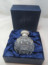 CARRS SILVER TOPPED GLASS PERFUME BOTTLE (MILLENIUM) IN VICTORIAN HOBNAIL STYLE