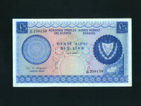 Cyprus:P-44a,5 Pounds,1967 * Cyprus Map * Rare Date * EF+ *