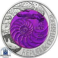 Österreich 25 Euro Niob Münze Bionik 2012 Silber Niob Serie Qualität Handgehoben