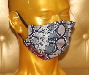 angeldog_Exclusive Alltagsmaske Stoffmaske_Schlange Motiv_Zeigen Sie Stil_Gr: M