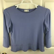 Women's Sympli The Best Lilac Purple Top Made in Canada Size 8 Scoop Neck