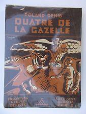 """SCOUTISME. SIGNE DE PISTE.""""4 DE LA GAZELLE""""R.DENIS. ILL SVEN B.E. 1945 BEL ETAT"""