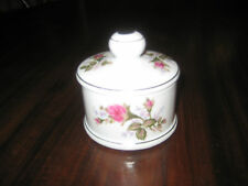 Chase Made in Japan Pin Dish w/Top Pink Green Flowers Vintage
