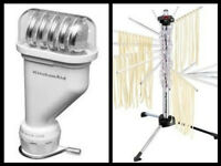 KitchenAid Pasta Press Stand Mixer Attachment KPEXTA Spaghetti maker+Steel Rack