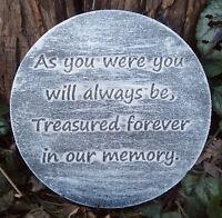 Plastic memorial plaque mold garden ornament  plaque / stepping stone