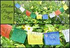 ~STRING OF 10 TIBETAN BUDDHIST PRAYER FLAGS~Buddha~1.5 Metres Long~Prosperity~