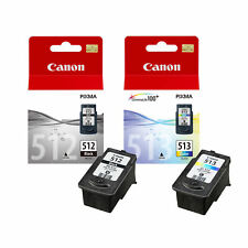 Genuine Canon PG512 Black & CL513 Colour Ink Cartridge For PIXMA MP272 Printer
