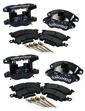 WILWOOD D52 BRAKE CALIPER & PAD SET W/PINS,FRONT & REAR,1.28,BLK,BIG GM CALIPERS
