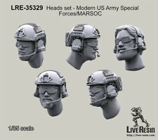 Live Resin 1/35 Heads Set - 2013 US Special Forces/MARSOC